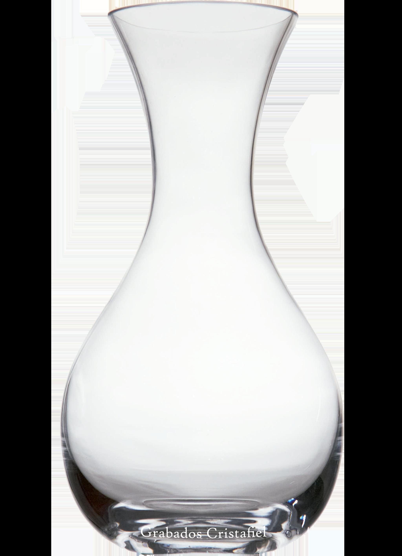 Decantador Boca Recta de Cristal de Bohemia Grabados Cristafiel