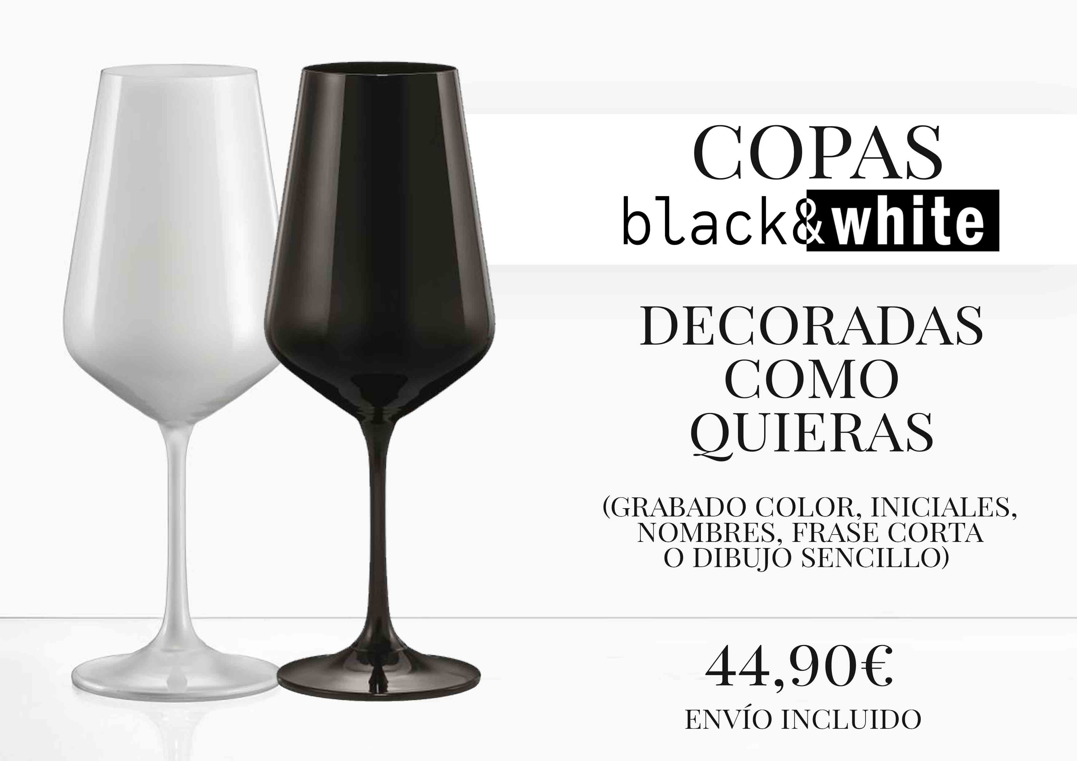 Promo Black&White Grabados Cristafiel