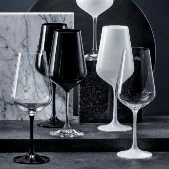Copas Black & White Grabados Cristafiel