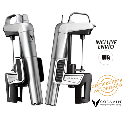 Coravin Model Two Elite Color Plata Grabados Cristafiel