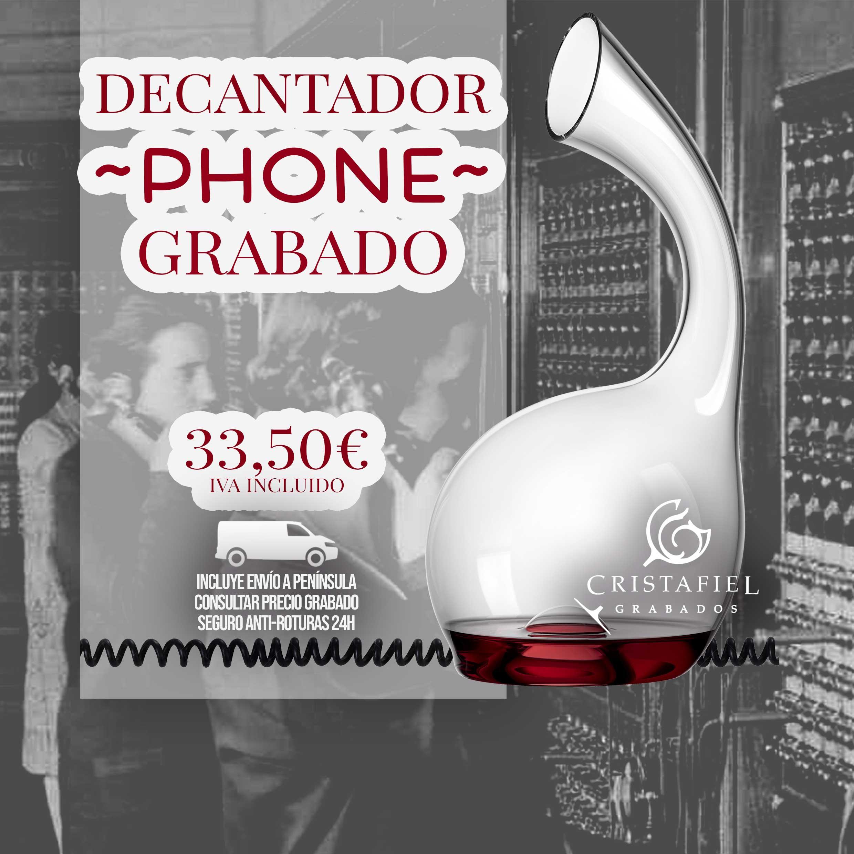 Decantador Phone Decantador Promoción Grabados Cristafiel