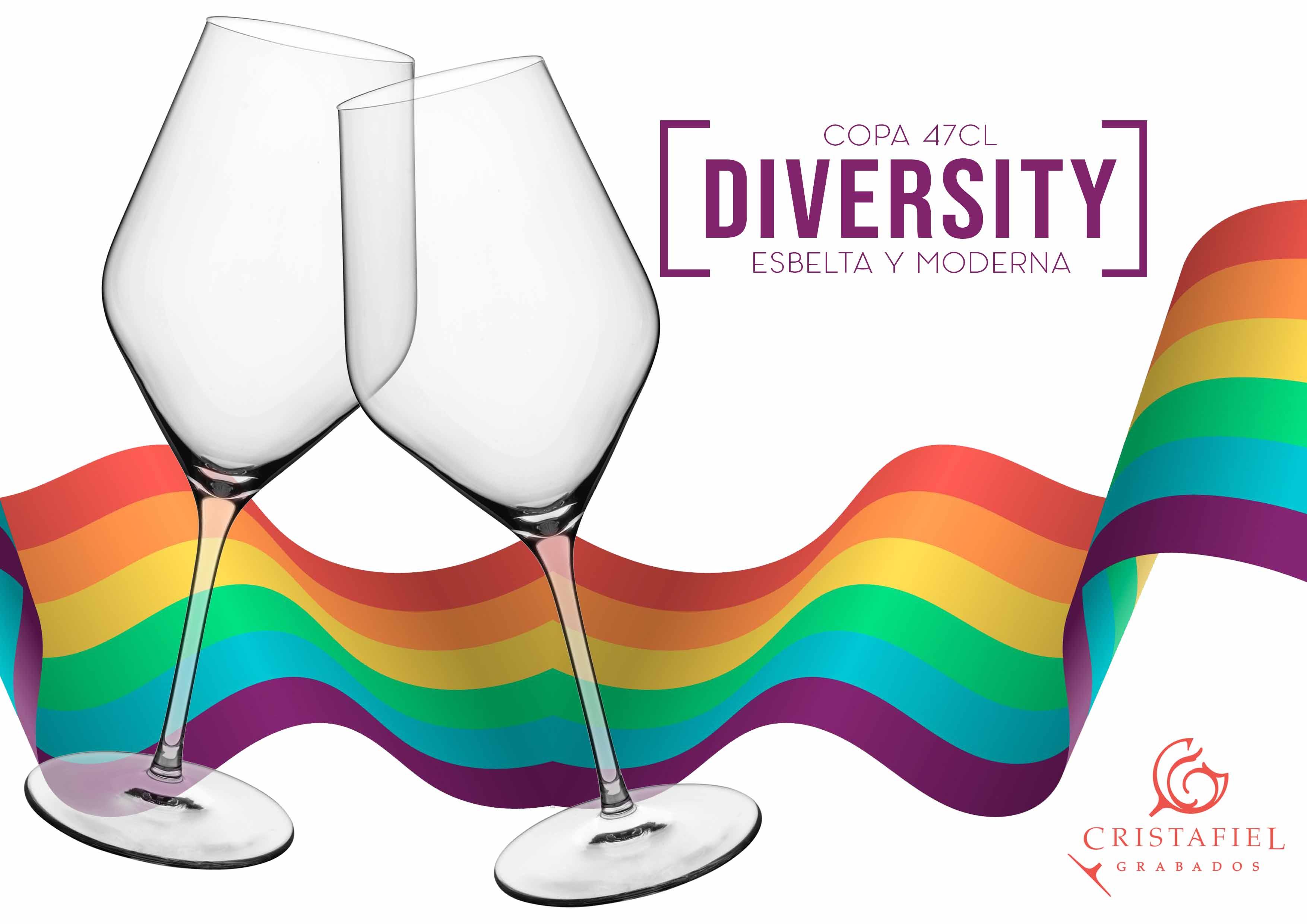 Copa Diversity 47cl Grabados Cristafiel