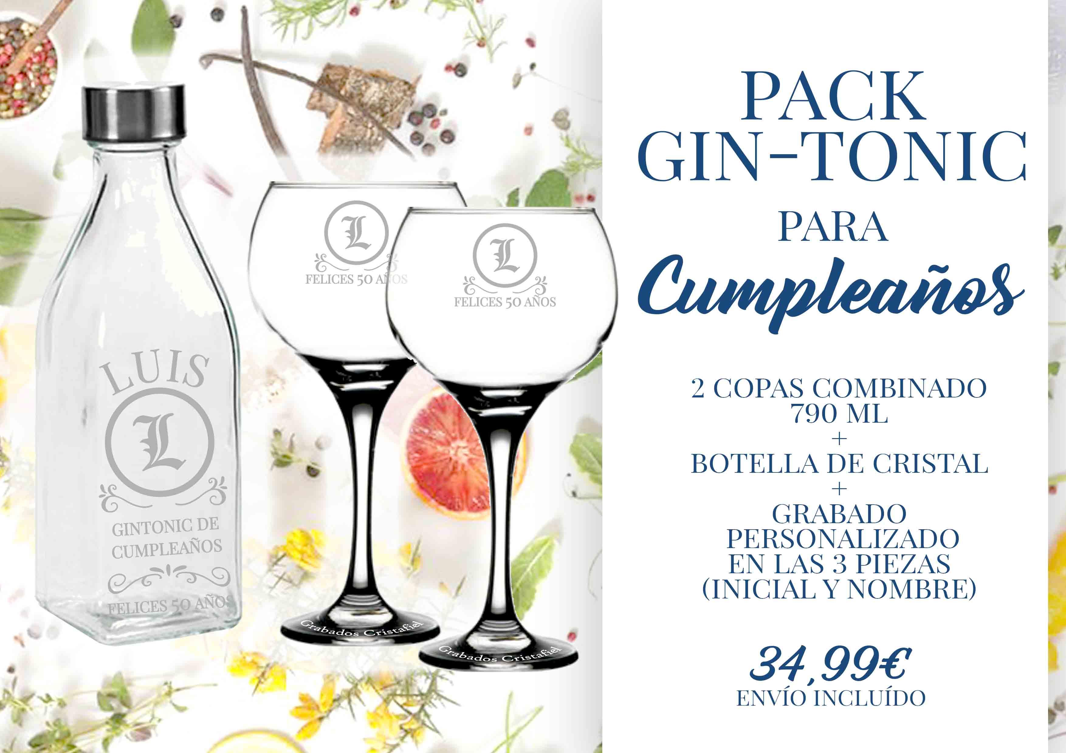 Gin Tonic Cumpleaños Grabados Cristafiel
