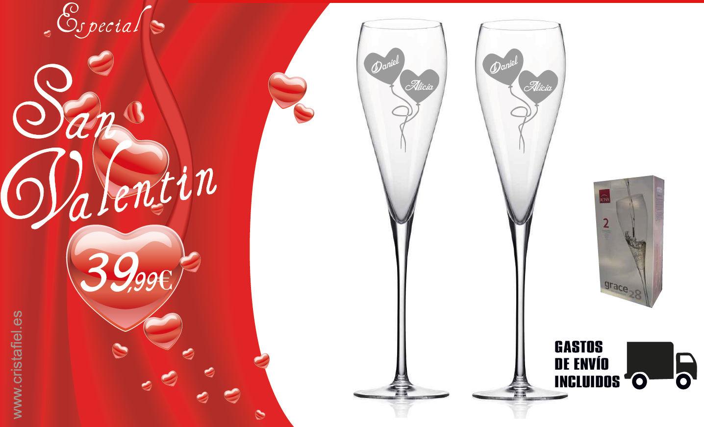 Cristafiel Grabados - Oferta Especial San Valentin 2019 - Copa Grace Champagne Flute