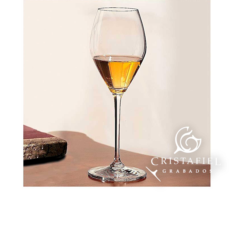 6 Copas Riedel Dessert Wine 444/55 Grabados Cristafiel