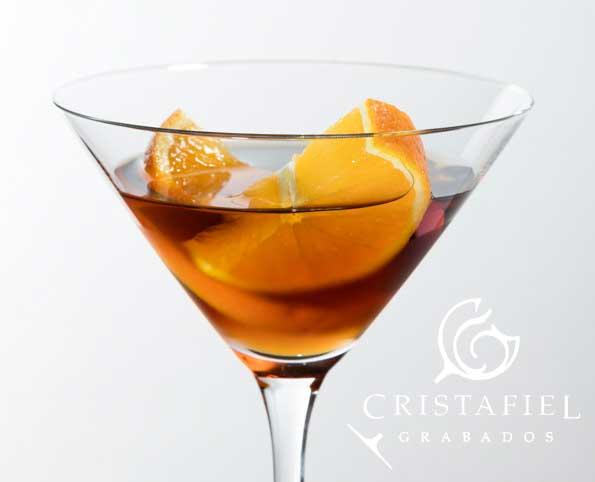 3 Copas Spiegelau Martini Grabados Cristafiel
