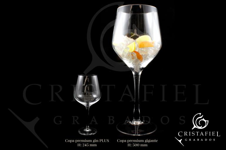 Copa Gin Tonic Gigante Grabados Cristafiel