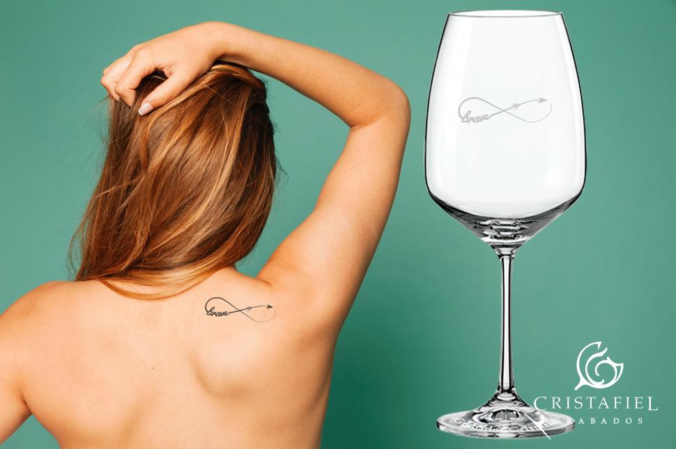 Tu Tatto en una Copa Personalizada con Grabados Cristafiel